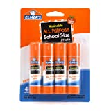 Elmers Washable All-Purpose School Glue Sticks, 0.24 oz Each, 4 Sticks per Pack (E542)