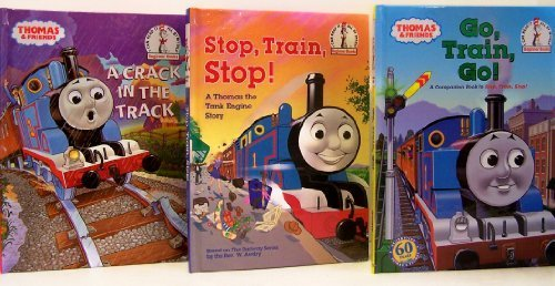 Thomas and Friends: Stop, Train, Stop! / Go, Train, Go! / A Crack in the Track - 3 Book Set (I Can Read It Beginner Books)