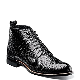 Stacy Adams Men\'s Madison 00057,Black Leather,US 8.5 D