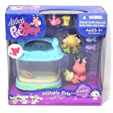 Littlest Pet Shop Portable Pets Gift Set Funniest #928 Yellow Frog And #929 Hermit Crab