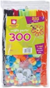 Fibre Craft 300-Pack Sm'ART Parts, Assorted