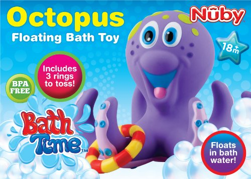 bath toy baby bathtub fun octopus hoopla floating ring bpa free toddle play p. Black Bedroom Furniture Sets. Home Design Ideas