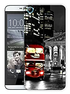 "Humor Gang London Street Bus Printed Designer Mobile Back Cover For ""HTC Desire 826"" (3D, Matte, Premium Quality Snap On Case)"