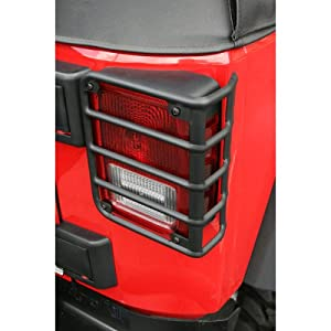 Jeep Wrangler JK Tail Light Guards 07-12 Black by Omix