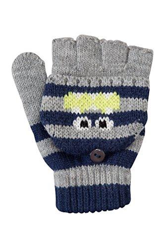 mountain-warehouse-guantes-de-punto-monster-para-ninos-gris-talla-unica