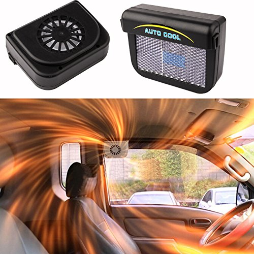 RedSonics(TM)Solar Sun Power Car Auto Air Vent Cool Fan Cooler Ventilation System Radiator durabe clean accessories Rubber YA091-SZ