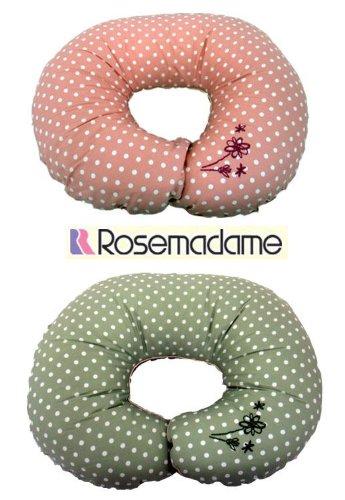 857-9014 ローズマダム 授乳クッション(ドット刺繍柄) ピンク