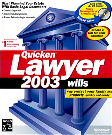 Quicken Lawyer 2003 Wills
