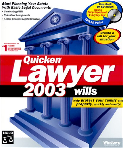 Quicken Lawyer 2003 WillsB00007MIKK