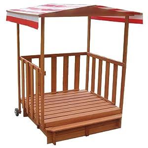 sandkasten spielhaus mit spielveranda sandbox sandkiste. Black Bedroom Furniture Sets. Home Design Ideas