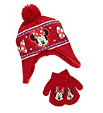 Minnie Mouse Girls Toddlers Knit Hat & Gloves Set