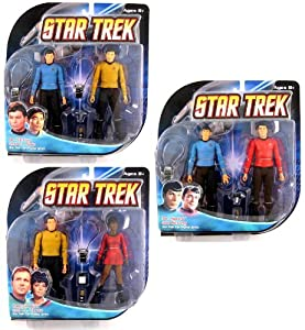 Star Trek The Original Series Action Figure Bundle (includes Captain Kirk, Mr. Spock, Lt. Uhura, Lt. Sulu, Dr. McCoy & Scotty)