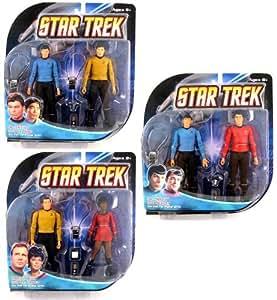 Star Trek The Original Series Action Figure Bundle (includes Captain Kirk, Mr. Spock, Lt. Uhura, Lt. Sulu, Dr. McCoy & Scotty)