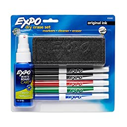 EXPO Original Dry Erase Set, Fine Point, Assorted Colors, 6-Piece