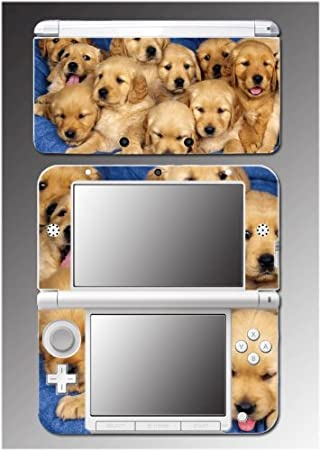 Dog Cute Puppies Golden Retriever Pet Boys Girls Video Game Vinyl Decal Cover Skin Protector 9 for Nintendo 3DS XL