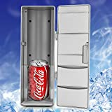 Rubility-C-500-Mini-Rfrigrateur-USB-Ensemble-Rfrigrateur-Beverage-Boisson-Cans-refroidisseur-Chauffe-Rfrigrateur-Argent