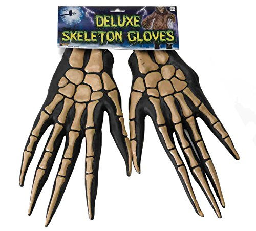 Forum Novelties Women's Deluxe Adult Skeleton Costume Gloves