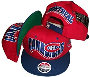 Montreal Canadians Two Tone Red Blue Snapback Adjustable Plastic Snap Back Cap Hat by NHL