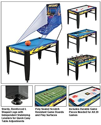 NG1017M3 FamilyPoolFun Inferno 20-in-1 Multi-Game Table