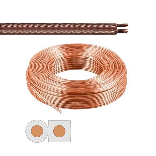 Câble de haut-parleur 2 x 2,5 mm²-transparent - 20 m