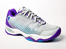 Prince T22 Lite Women\'s Tennis Shoes (Gray/Purple/Blue) (9.5 B(M) US)