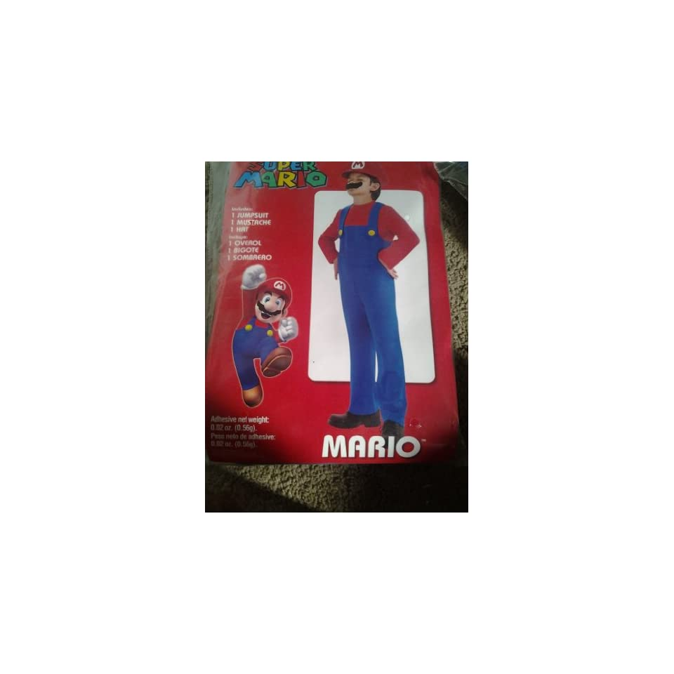 Super Mario Bros. Halloween Costume Boys Kids Size Xl (14 16)