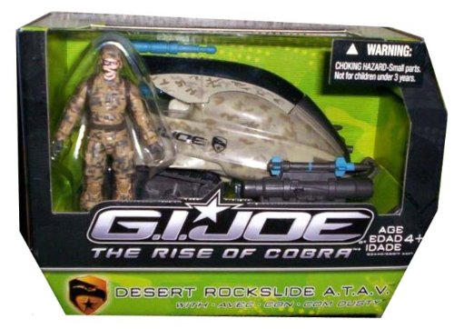 Buy Low Price Hasbro G.I. Joe The Rise of Cobra Alpha Vehicle Desert Rockslide A.T.A.V. with Dusty Action Figure (B00422OXBE)
