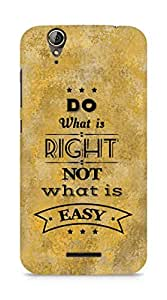 Amez Do what is Right Not what is Easy Back Cover For Acer Z630S