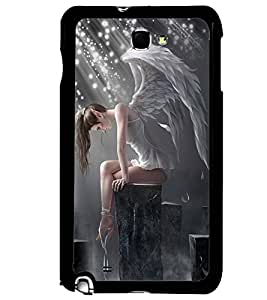 PRINTVISA Angel Girl Case Cover for Samsung Galaxy Note 2 N7100