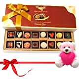 Valentine Chocholik Premium Gifts - Best Treat Of Mix Assorted Chocolates With Teddy