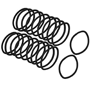20 Pieces Black Elastic Rubber Hair Band Ponytail Holders for Lady