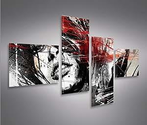 Bilder auf leinwand street art 4l kunstdruck - Leinwand amazon ...