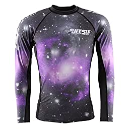 JJS X Tatami Galactic Rash Guard - Black-Purple - Large