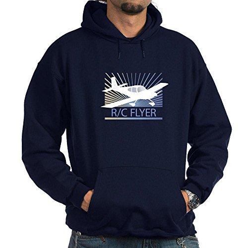 CafePress RC Flyer Low Wing Airplane Hoodie dark – L Navy