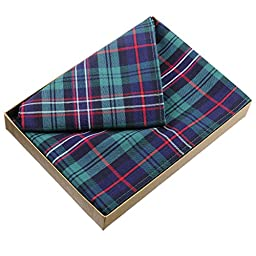 Scottish National Plaid Cotton Handkerchief - Boxed Set of 3