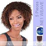 NE1 JERRY CURL 5 PACK (Motown Tress - Weave and Bulk) - Human Hair Blend Weave in P4_27