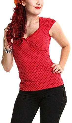 Rockabella - Canotta -  donna rosso X-Large
