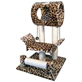 Go Pet Club Cat Tree Condo House Leopard