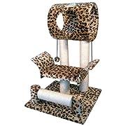 Go Pet Club Cat Tree Condo House 18W x 17.5L x 28H Inches Leopard