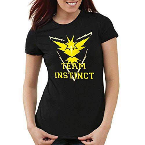 CottonCloud-Equipo-Amarillo-Instinto-Camiseta-para-mujer-T-Shirt-instinct-ColorNeroTallaXL