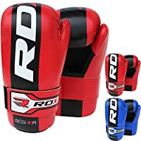 RDX Maya Hide Leather Taekwondo Gloves WTF Training Martial Arts Sparring TKD Punch Bag Mitts MMA Karate Fighting from RDX