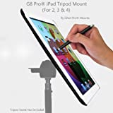G8 Pro V2.0 iPad 2, 3rd Gen and iPad 4 - The New iPad Tripod Mount Holder Adapter Attachment with 1/4-20 Thread - Extremely portable - made in the USA - Smart cover compatible (iG8-8846-23-3)