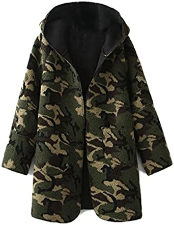YAYAJIE Women's Winter Coats Camouflage Cashmere Jackets