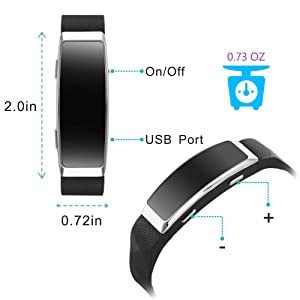 16GB Voice Recorder Watch, BestRec Voice Activated Recordings for Lectures, Meetings, 20 Hours Working Time, Easy One Button Operation - Black (Color: 16GB)