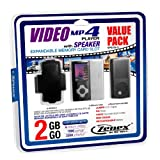 Zenex MP5556-2 2 GB MP4 Video Player, Black