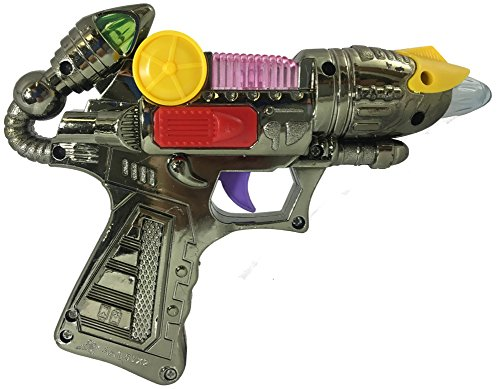 Child's Light Up Toy Space Alien Blaster Gun Weapon Costume Accessory (Space Weapons Toys compare prices)