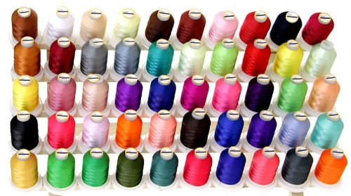 50 Spools Polyester Embroidery Machine Thread