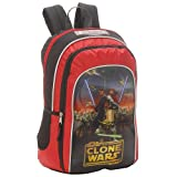 Star Wars Clone Wars Supreme Power 16 Inch Backpack - Red and Black