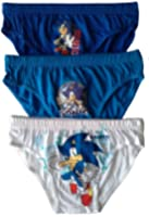 Boys Sonic the Hedgehog Briefs Pants Underpants Underwear - 3 Pack - Official Licenced 100% Cotton