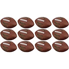 12 WILSON WTF1795 NFL Official Size Super Grip Composite Leather Game Footballs by Wilson